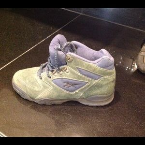 Reebok Shoes - Reebok Hexalite Hiking Boot Leather Green 46e35fb1c